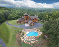 Dahlonega Mountaintop Home Aerial Property Marketing