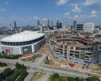 Georgia Dome and Atlanta Falcons New Stadium