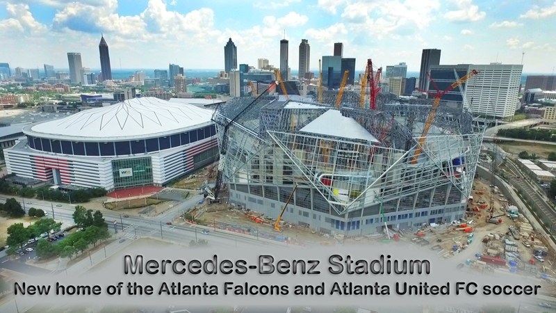 MERCEDES BENZ STADIUM - NEW HOME OF THE ATLANTA FALCONS